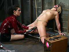 Electro Pictures -  Sexy blonde is bound and shocked with the violet wand