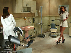 Torture Pictures -  Big boobed Christina is shocked and bound in the doctor's office