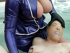 Electro Pictures -  Dana DeArmond is dressed in latex, bound, and fucked with machine
