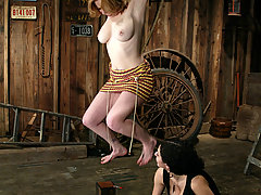 Punishment Pictures -  Adrainna Nicole is punished with electricity and bondage