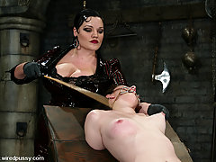 Electro Pictures -  Pain slut pushed to her limits with electrostimulation!