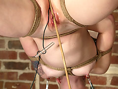 Punishment Pictures -  Cowgirl suspends Lorelei and teases her mercilessly.
