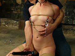 Bondage Pictures -  Lena Ramon and Tyher are Hogtied and loving it.