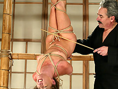 Bondage Pictures -  Maria Shadoes suffers in pleasure though great suspension.