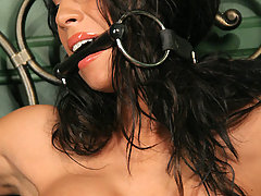 Slaves Pictures -  Hot Latina struggles and cums!