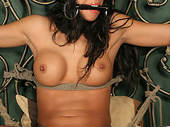 Forced Orgasms Pictures -  Hot Latina struggles and cums!