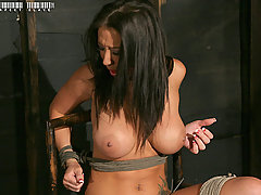 Slaves Pictures -  Huge tits, tied and cumming!