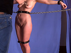 Bondage Pictures -  Leila gets bound, gagged, blinded, and penetrated.