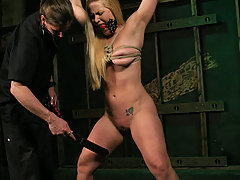Forced Orgasms Pictures -  Big tit bondage slave in extreme torture!