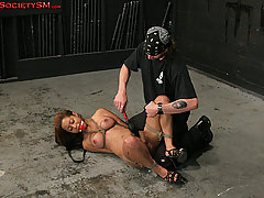 Slaves Pictures -  Ebony first timer in rough bondage!