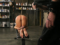 Slaves Pictures -  Hot MILF bound to cum!