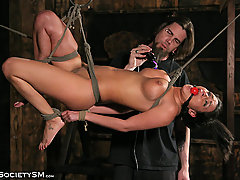 Slaves Pictures -  Huge tits, Heavy Bondage!
