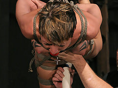 Forced Orgasms Pictures -  Big tit slave bound and made to cum!