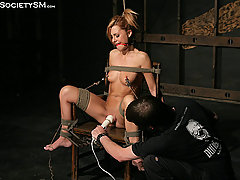 Forced Orgasms Pictures -  Ginger is tied in the dungeon.