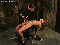 Forced Orgasms Pictures -  Nika is bound in the Dungeon.