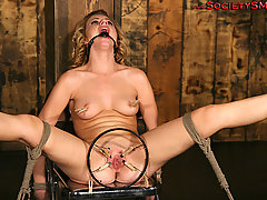 Slaves Pictures -  ...The cute little blonde gets no mercy...
