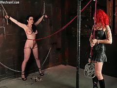 Pain Pictures -  Big tit slave! girl on girl bondage!