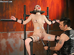 Extreme Pictures -  Bondage amateur has forced orgasms!