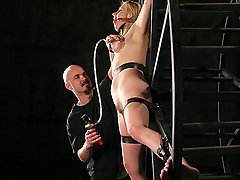 Extreme Pictures -  Sweet, young, blonde in hard bondage!
