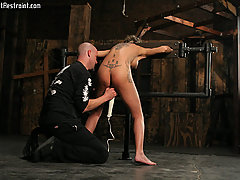 Slaves Pictures -  Tattooed Dungeon whore whipped and cumming!