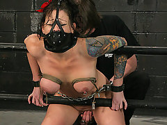 Pain Pictures -  Big tit pain slut in the harsh Dungeon!