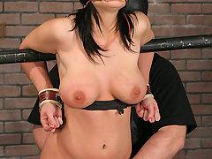 Extreme Pictures -  Big tit bondage slave!