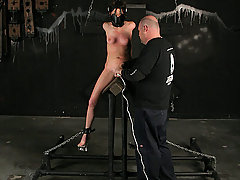Pain Pictures -  Squirting bondage slave orgasms!