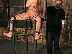 Pain Pictures -  Huge boobed slave tied and whipped!