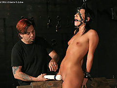 Extreme Pictures -  Innocent Ashli extreme bondage orgasms!