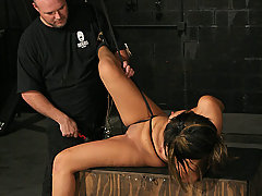 Slaves Pictures -  Locked, Shackled, Whipped and Cumming Hard!