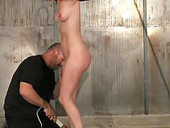 Slaves Pictures -  Horny whore gets punished by Big Bad