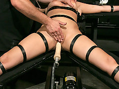 Slaves Pictures -  Michelle is strapped and slapped