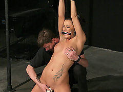 Torture Pictures -  Chayse finds herself naked and chained to a pole in the dark room as her master begins his work.