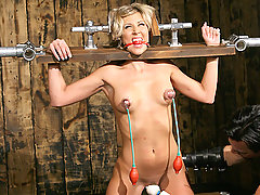Torture Pictures -  Master Liam torments Audrey Leigh