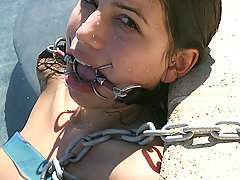 Slaves Pictures -  Micah is shackled in water and dirt.