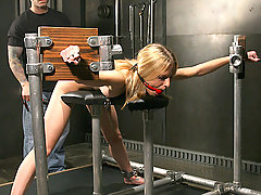 Slaves Pictures -  Little Faye makes a good slave...