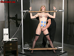 Torture Pictures -  Morgan gives in to electric shock.