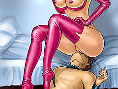BDSM Art Pictures -  Goddesses of domination training slaves strictly artworks