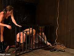 BDSM Toys Pictures -  2 friends bound, one watches as other is bound and anally fisted, made to cum!