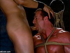 Gay Pictures -  Van Darkholme fucks Bound God Derek Pain.