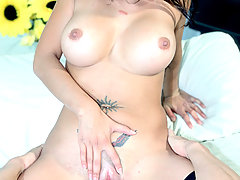 Facesitting Pictures -  Olivia O'Lovely smothers Lee Stone's face, rides cock and takes a mouthful of cum