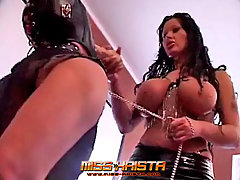 Domination Pictures -  Dominant Goddess trains her sissy slave