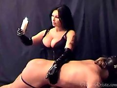 Femdom Pictures -  Miss Krista punishing her slave for disobedience
