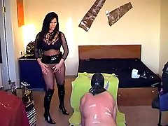 Submission Pictures -  Miss Krista humiliating her sissy slave