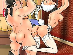 Cartoons Pictures -  Ass-fucked playmate