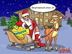 Cartoons Pictures -  Christmas cartoon bondage