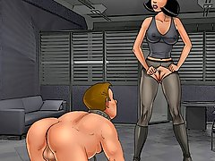 Cartoons Pictures -  German mistress humiliates her slave