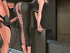 BDSM Art Pictures -  Fat kink's submissive bondmaids live through sheer hell