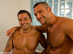 Gay Pictures -  Master Sergio uses the fucking machine on slave sergio then fucks him hard afterward.