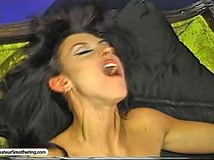 Smothering Pictures -  Slutty street punk shows uptown princess the ecstasy of breathplay